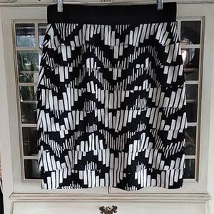 Alfani Black and White Ruffled Skirt
